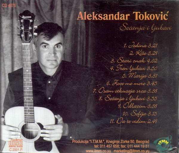 Aleksandar Tokovic omot zadnja
