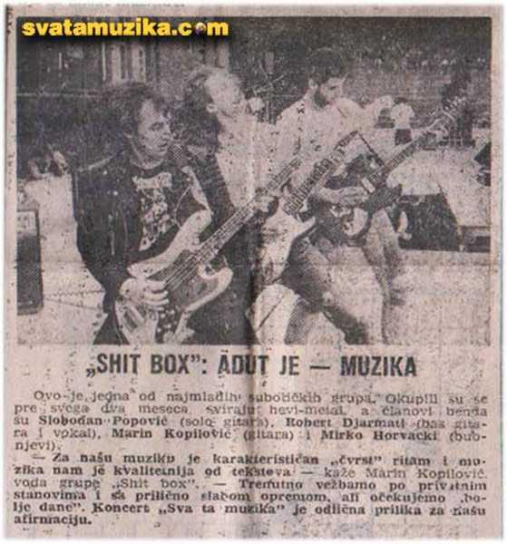 Shit Box - sva ta muzika 1986