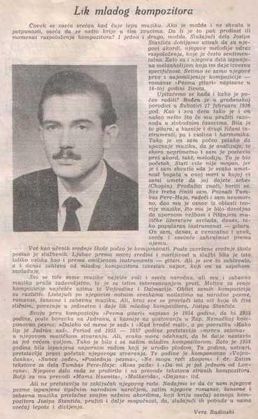 Josip Stantic – biografija 1959